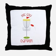 Disc Golf Champion Throw Pillow