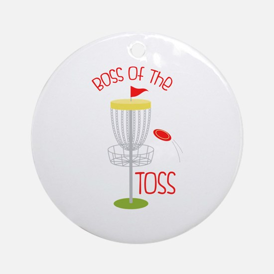 Toss Boss Round Ornament