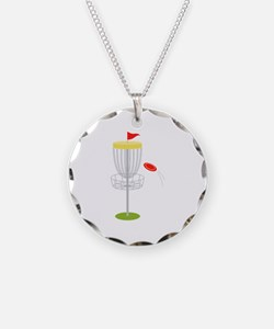 Frisbee Disc Golf Necklace