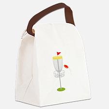 Frisbee Disc Golf Canvas Lunch Bag