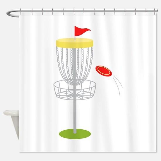 Frisbee Disc Golf Shower Curtain