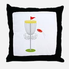 Frisbee Disc Golf Throw Pillow