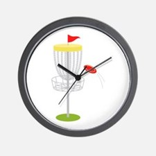 Frisbee Disc Golf Wall Clock
