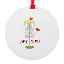 Frisbee Disc Dude Ornament