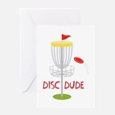 Frisbee Disc Dude Greeting Cards