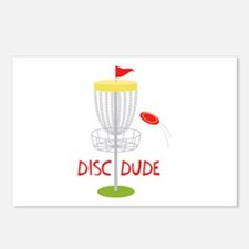 Frisbee Disc Dude Postcards (Package of 8)