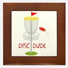 Frisbee Disc Dude Framed Tile