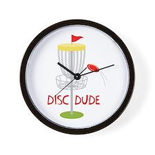 Frisbee Disc Dude Wall Clock