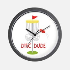Frisbee Disc Dude Wall Clock