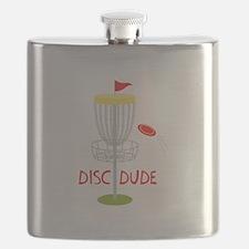 Frisbee Disc Dude Flask