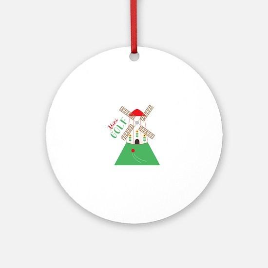 Mini Golf Round Ornament