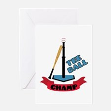 Tee Ball Champ Greeting Cards