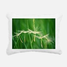 Funny Dandelion wishes Rectangular Canvas Pillow