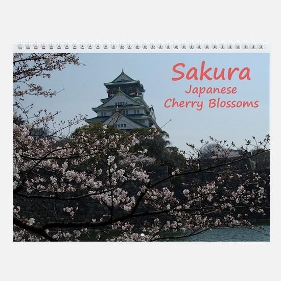 Wall Calendar Sakura Japanese Cherry Blossoms
