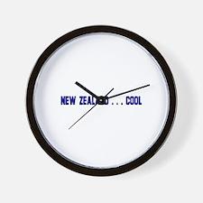 New Zealand . . . Cool Wall Clock