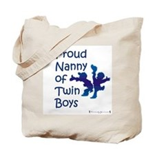Proud Nanny of Twin Boys Tote Bag