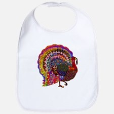 Dazzling Artistic Thanksgiving Turkey Bib