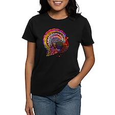 Dazzling Artistic Thanksgiving Turkey T-Shirt