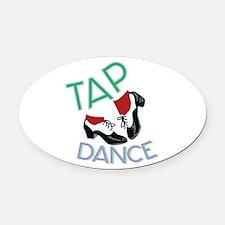 Tap Dance Oval Car Magnet
