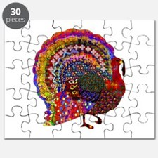 Dazzling Artistic Thanksgiving Turkey Puzzle