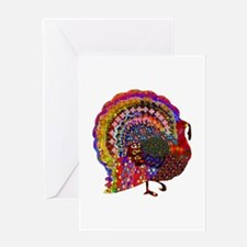 Dazzling Artistic Thanksgiving Turk Greeting Cards