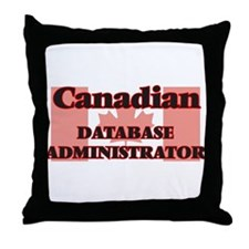 Canadian Database Administrator Throw Pillow