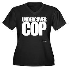 Undercover Cop - Women's Plus Size V-Neck Dark T-