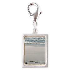I ? the Beach Silver Portrait Charm