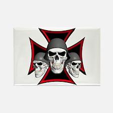 Skulls Iron Cross Rectangle Magnet