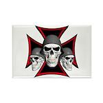 Skulls Iron Cross Rectangle Magnet (10 pack)