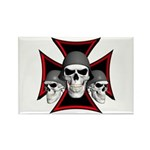 Skulls Iron Cross Rectangle Magnet (100 pack)