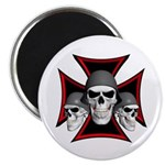 Skulls Iron Cross Magnet