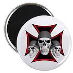 """Skulls Iron Cross 2.25"""" Magnet (100 pack)"""