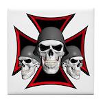 Skulls Iron Cross Tile Coaster