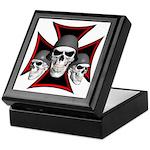 Skulls Iron Cross Keepsake Box