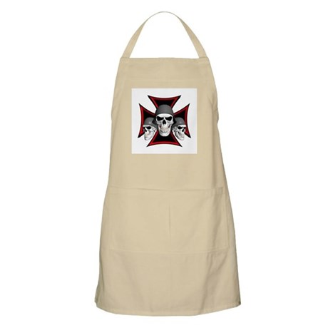Skulls Iron Cross BBQ Apron