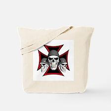 Skulls Iron Cross Tote Bag