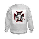 Skulls Iron Cross Kids Sweatshirt