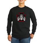 Skulls Iron Cross Long Sleeve Dark T-Shirt