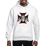 Skulls Iron Cross Hooded Sweatshirt