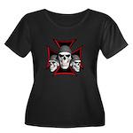 Skulls Iron Cross Women's Plus Size Scoop Neck Dar