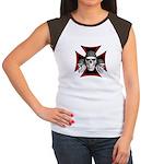 Skulls Iron Cross Women's Cap Sleeve T-Shirt
