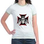 Skulls Iron Cross Jr. Ringer T-Shirt