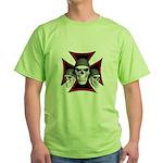 Skulls Iron Cross Green T-Shirt