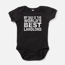 My Dad Is The Worlds Best Landlord Baby Bodysuit