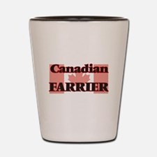 Canadian Farrier Shot Glass