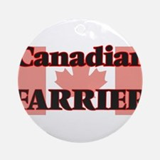 Canadian Farrier Round Ornament