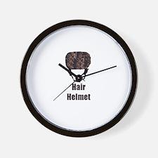 Hair Helmet Wall Clock