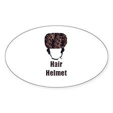Hair Helmet Oval Decal