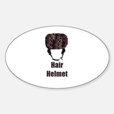 Hair Helmet Oval Decal